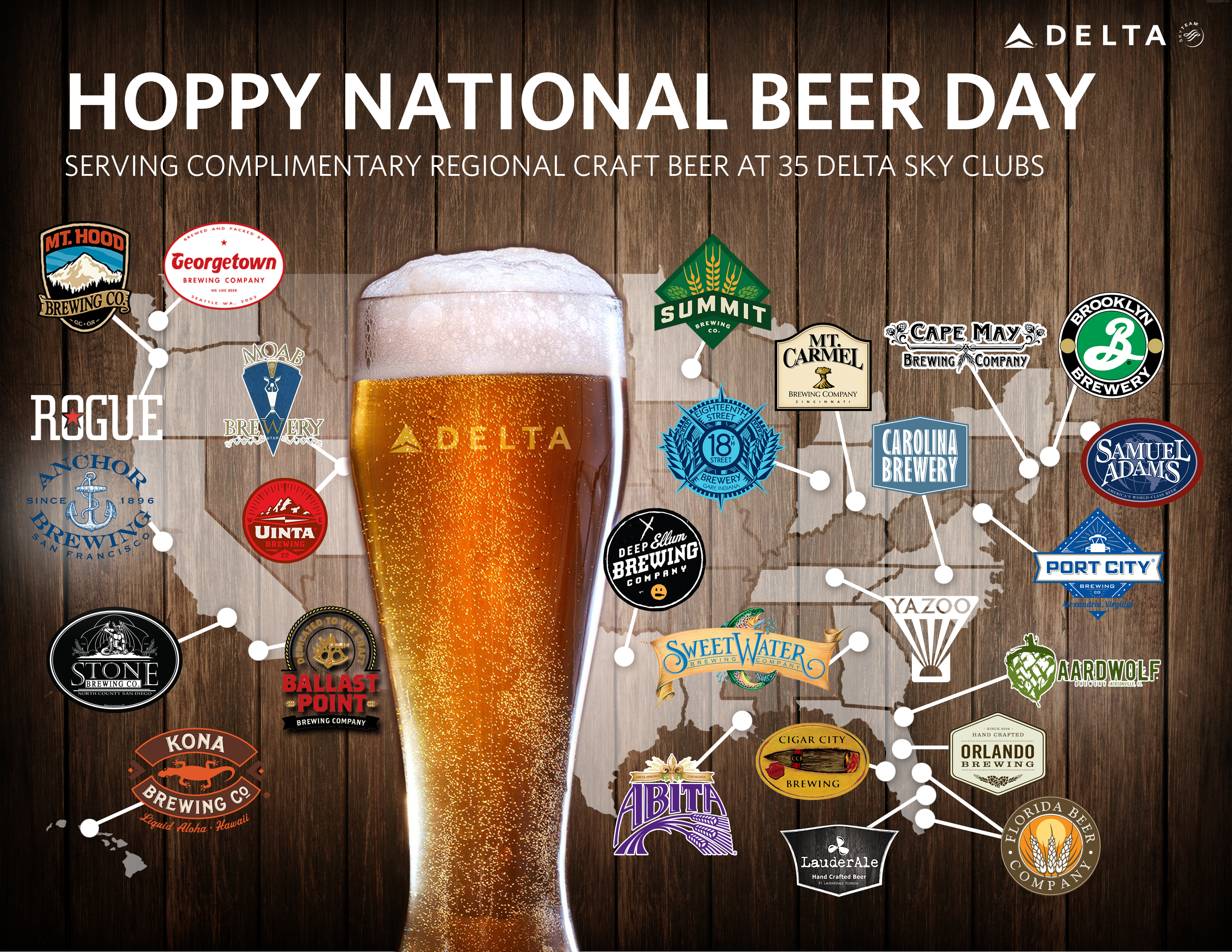 Delta Celebrates National Beer Day By Serving Local Brews Delta News Hub