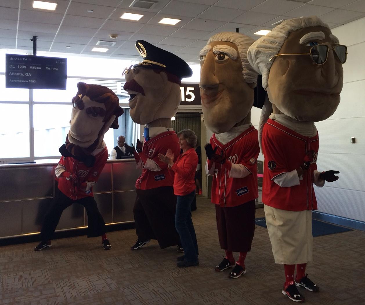 Washington Nationals mascots