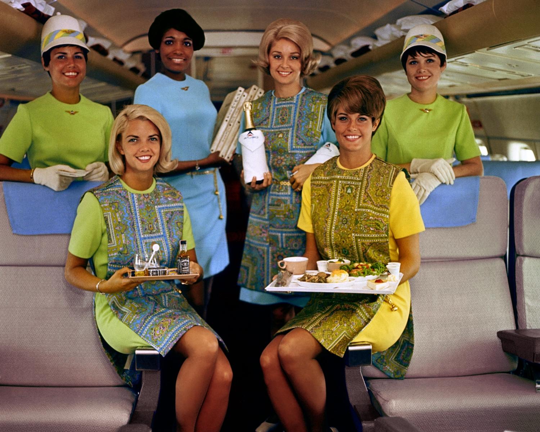 Flight Attendant uniforms in 1969