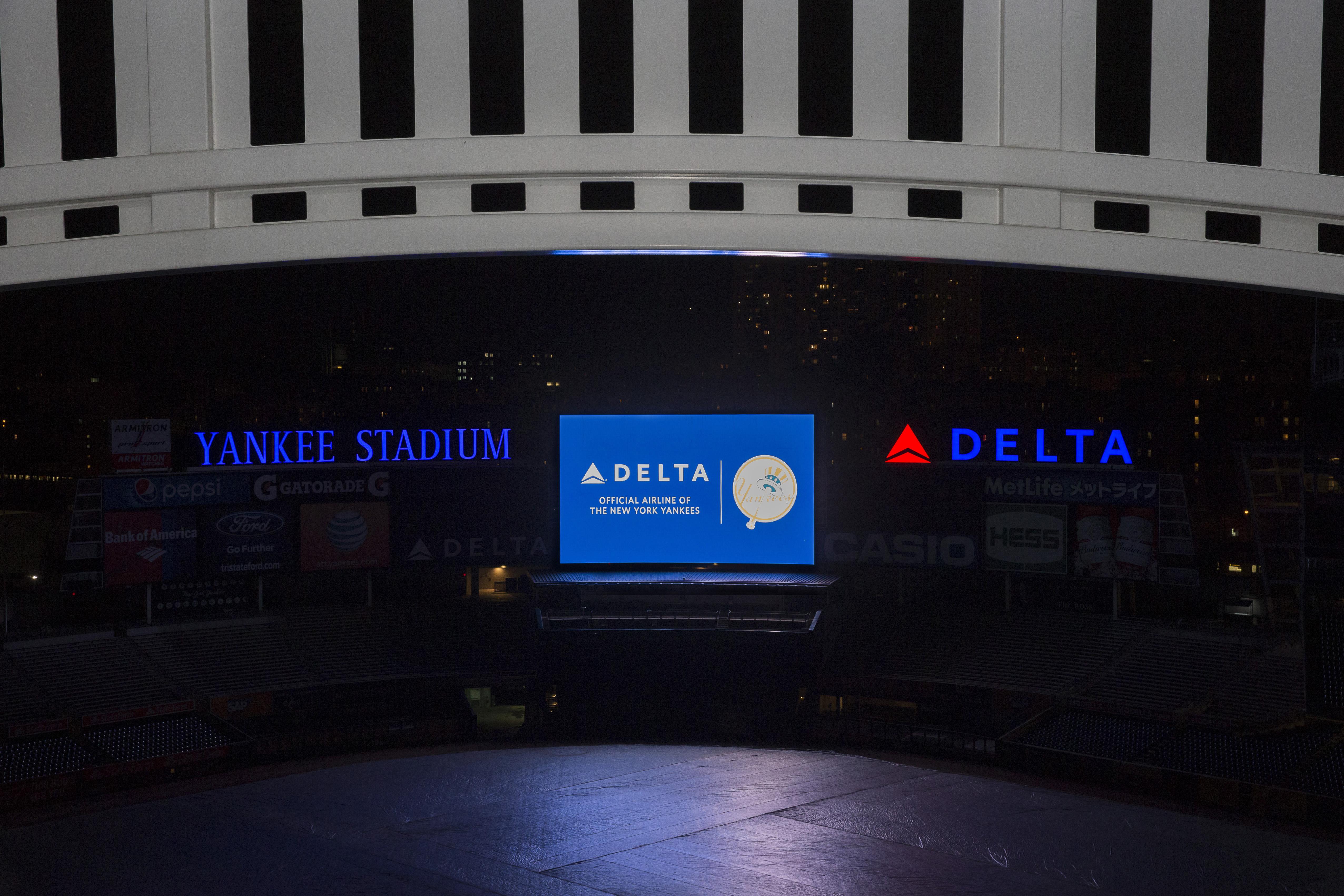 Yankee Stadium at night