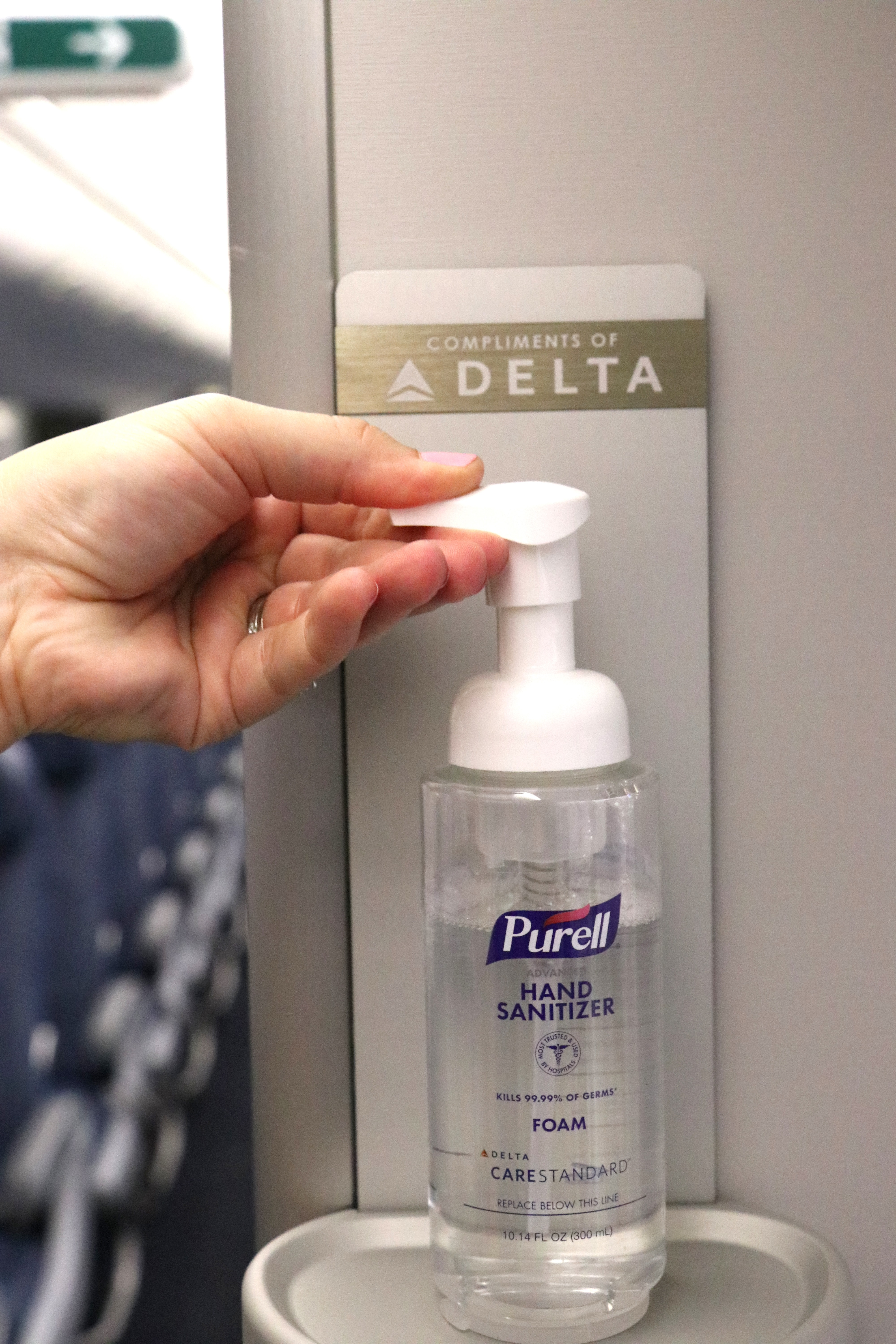 Purell on Delta aircraft
