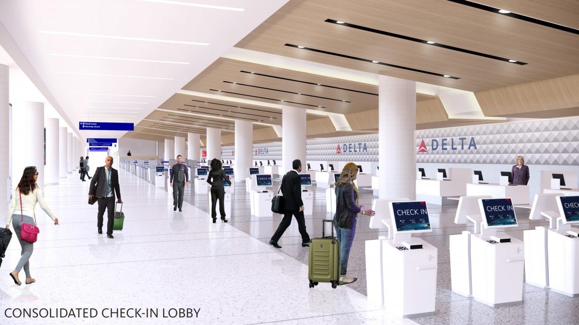 Consolidated check-in lobby