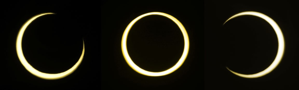 The annual eclipse on June 10, 2021. Photo by Bob King, Sky & Telescope