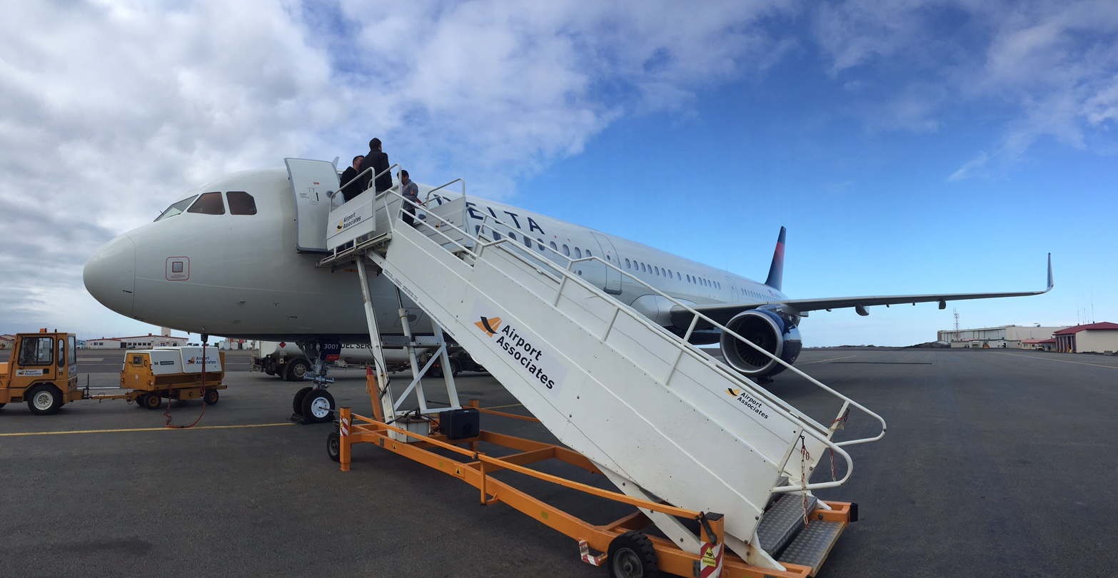 A321 during stop in Iceland