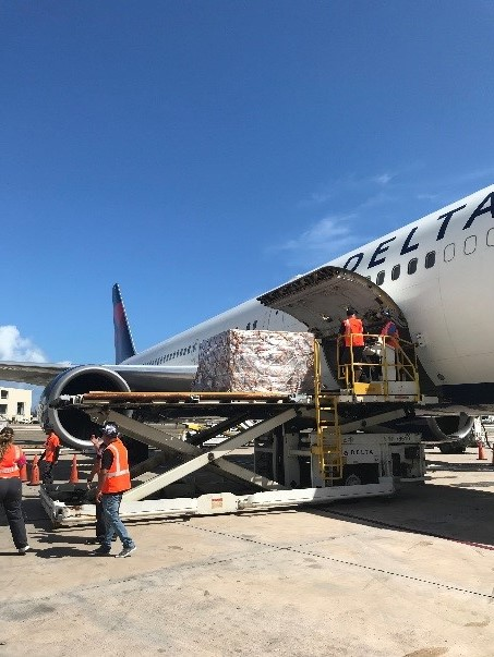 Third Delta humanitarian flight carries first responders, supplies to support Puerto Rico