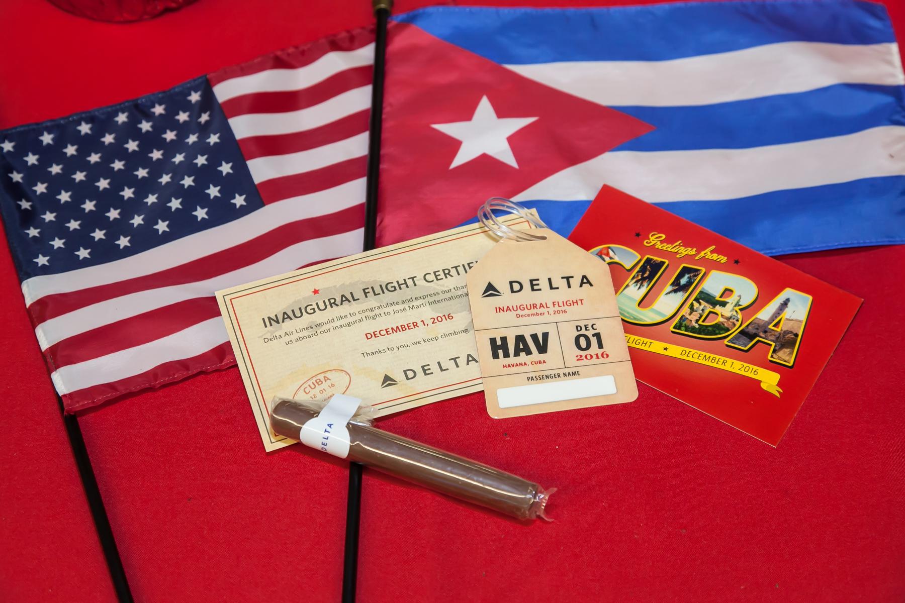 Gift to customers flying to Havana