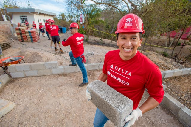 Delta people travel to Mexico for Delta's 13th Global Build