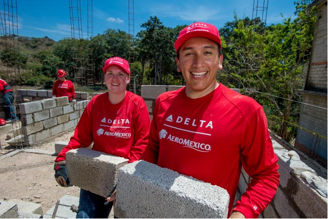 Employee volunteers travel to Mexico for Delta's 13th Global Build with Habitat for Humanity