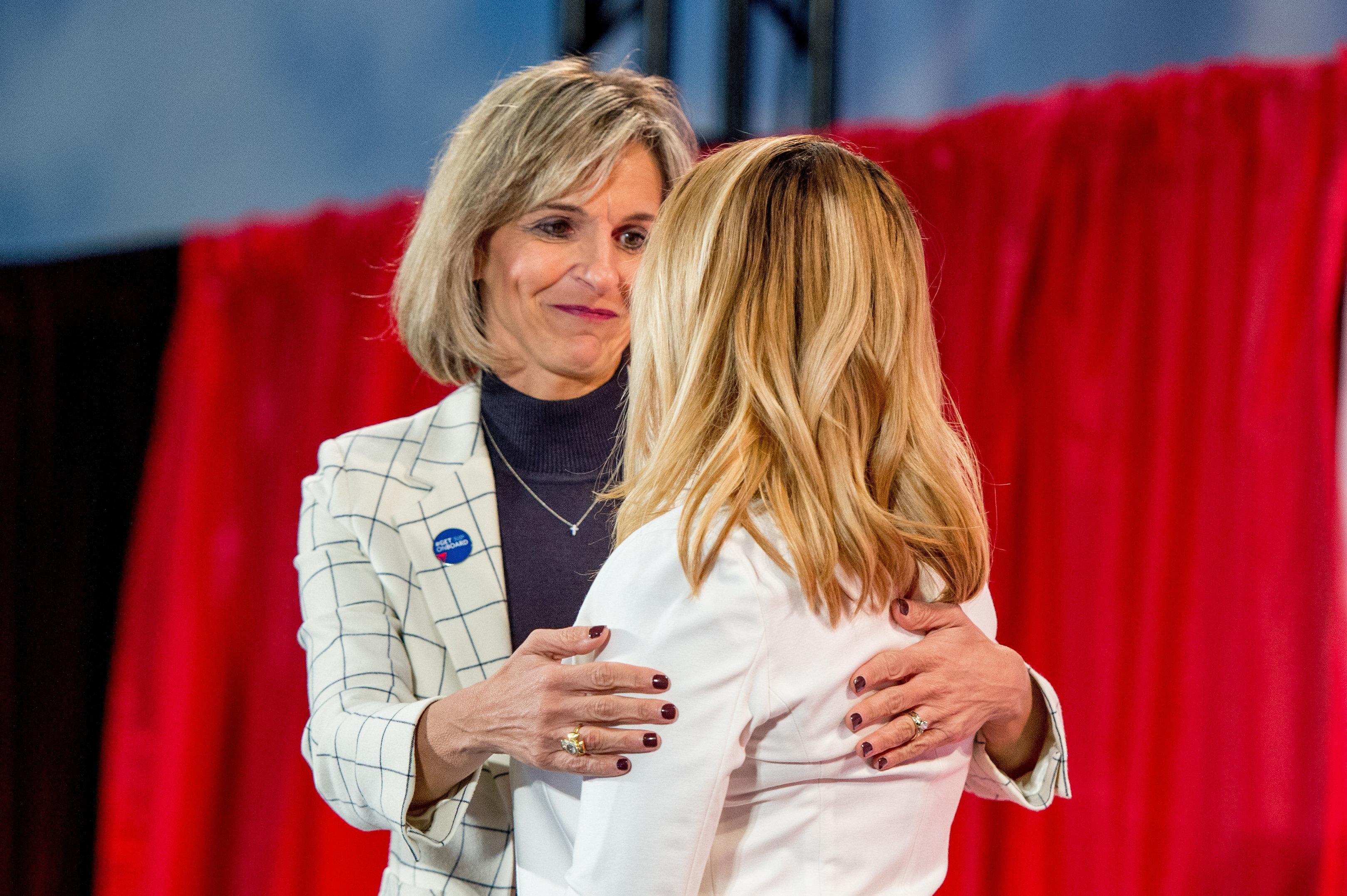 Allison Ausband and Rebekah Charleston, survivor of human trafficking.
