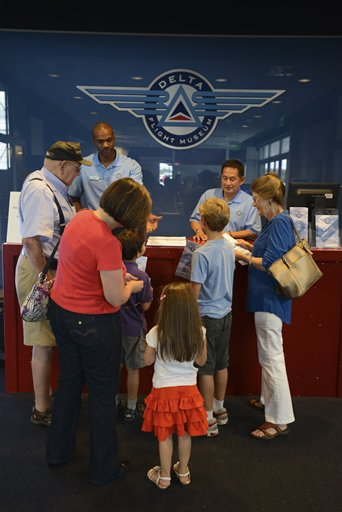 Delta Flight Museum Guests at Entrance