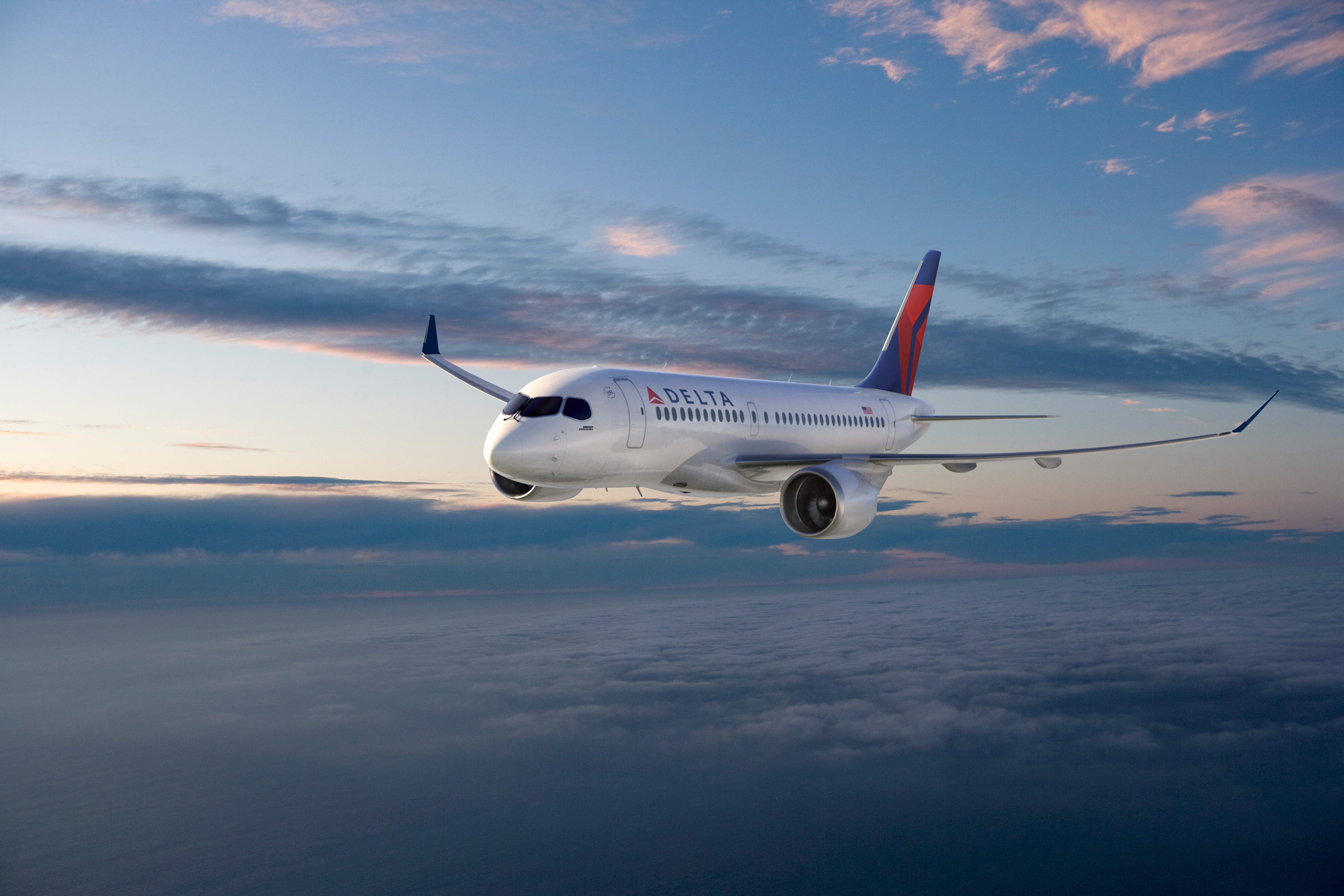 delta orders state of art fuel efficient bombardier c series