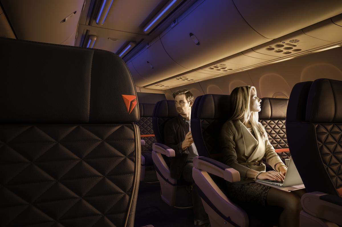 Delta First Class Interior