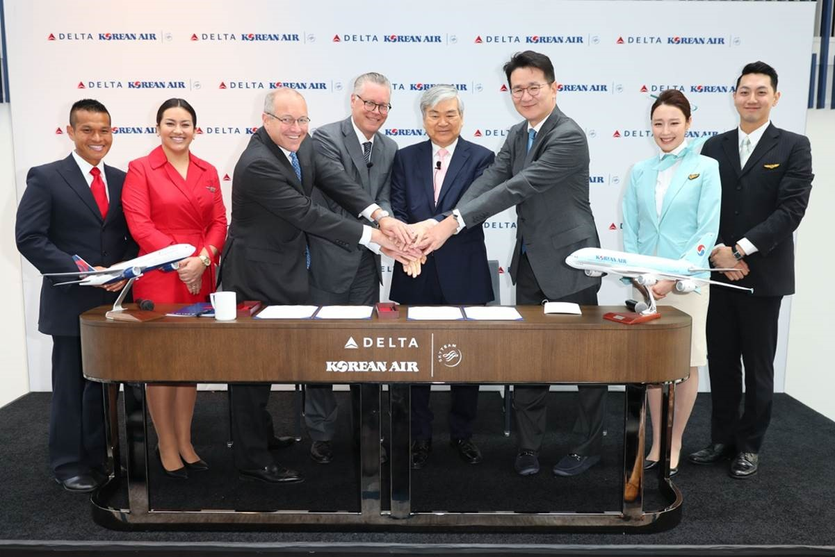 Delta and Korean Air Create Leading trans-Pacific Joint Venture