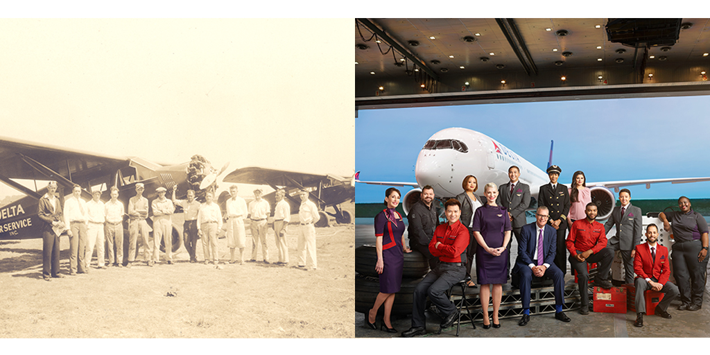 Delta's history: From dusting crops to connecting the world