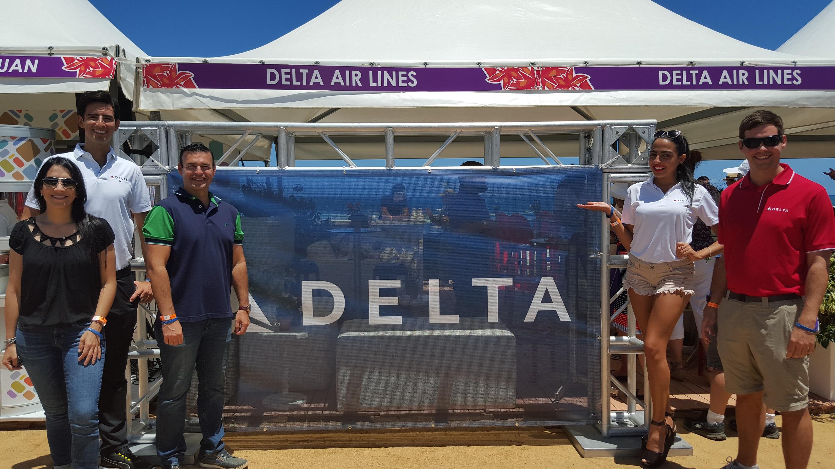 Delta booth at Saborea PR team