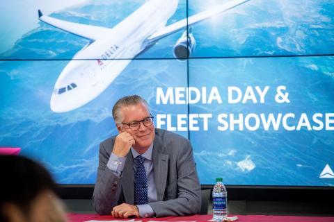 Ed Bastian at Media day in 2016