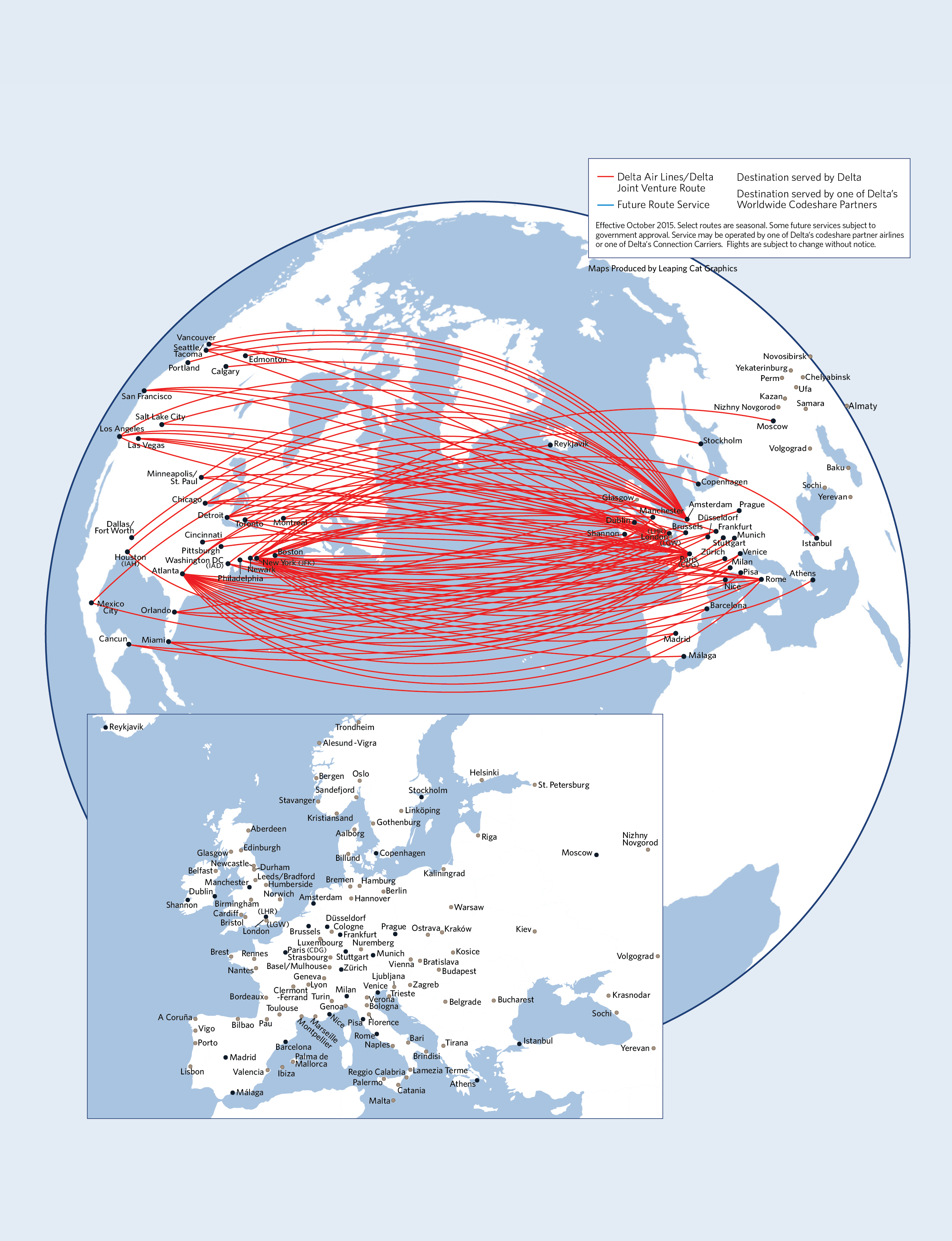 Route map between U.S., Europe | Delta News Hub