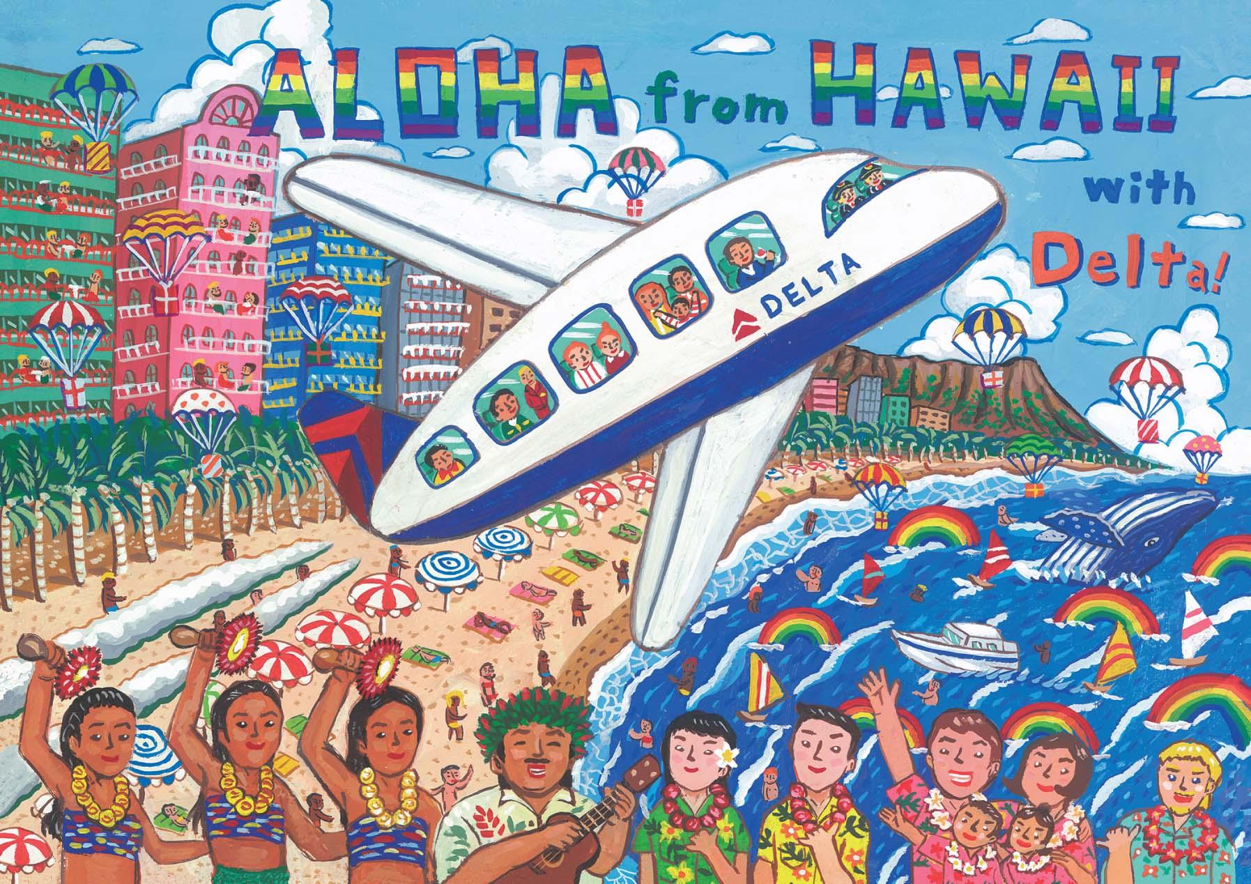 Hawaii postcard Miyazaki