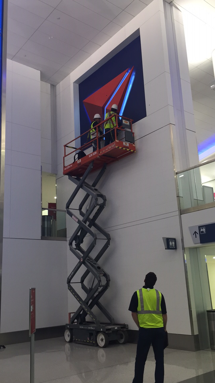 Finishing touches at Delta's new LAX home