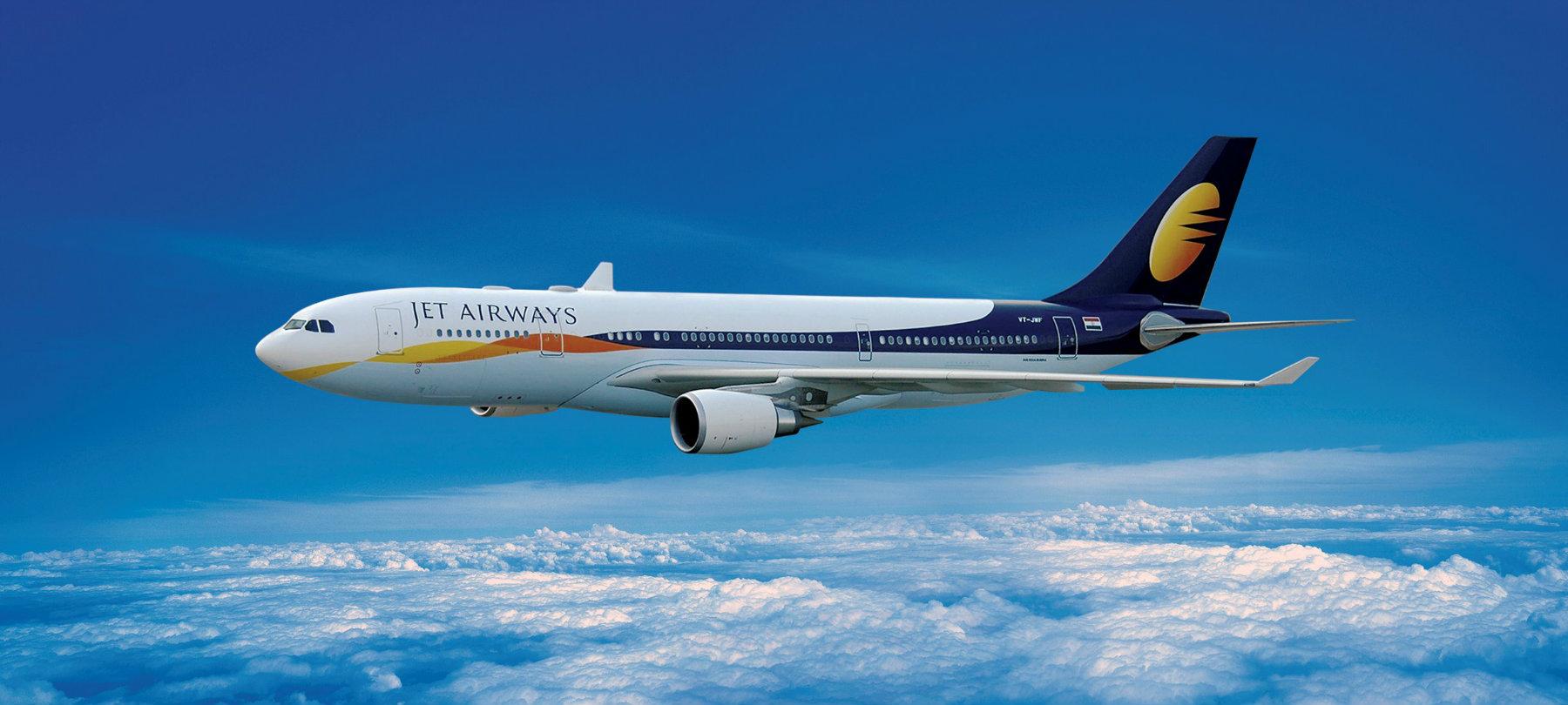 Jet Airways plane in route to destination