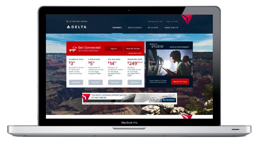 Screenshot of Delta.com