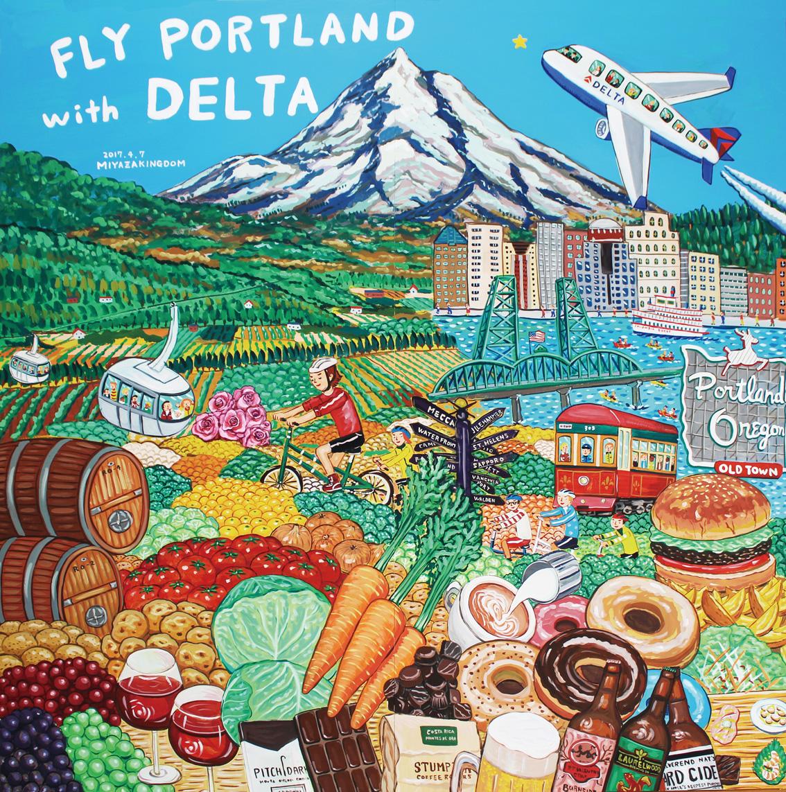 Portland Fair Miyazaki painting