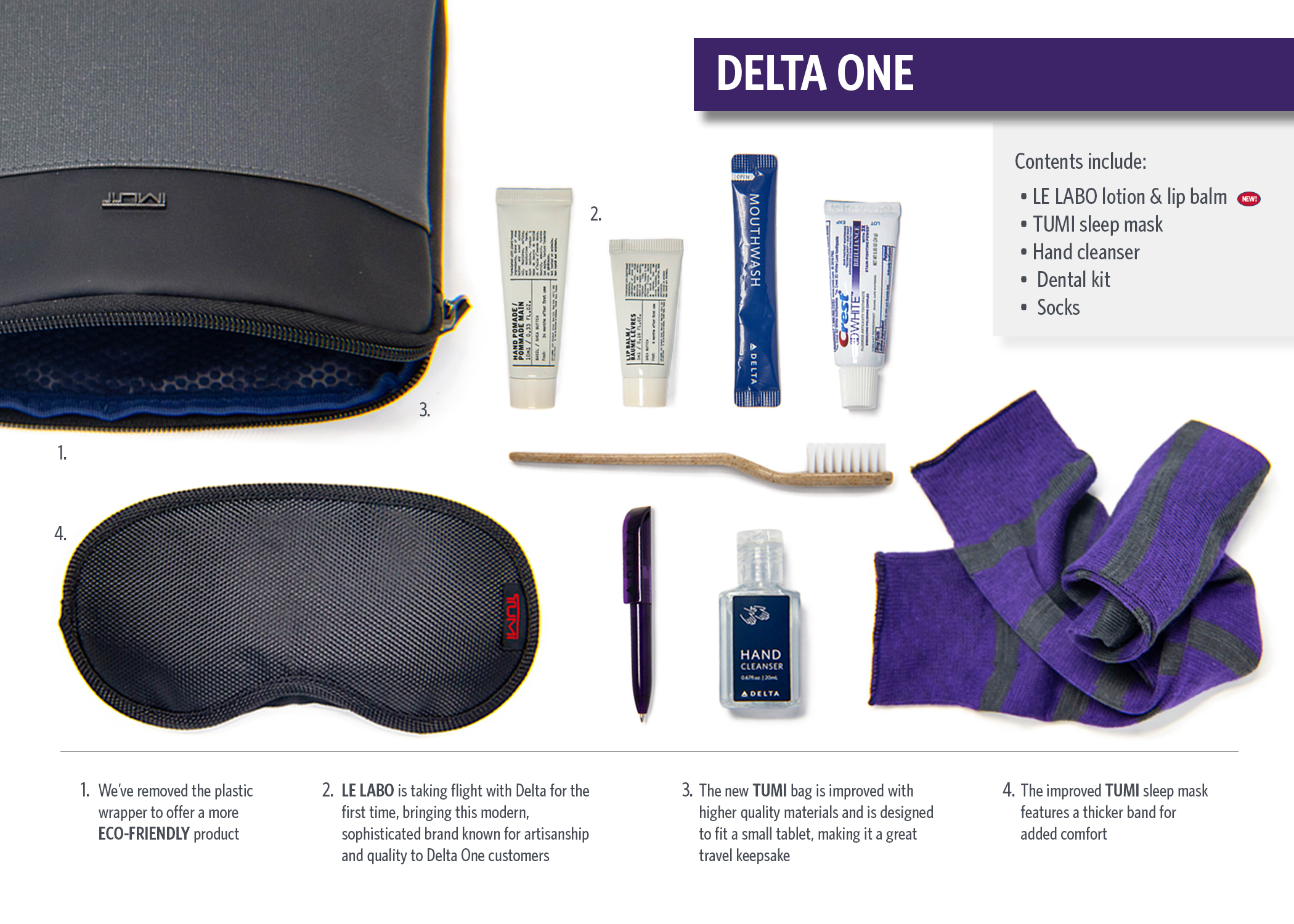 Details about  /TUMI Mini Delta One Traveling Hard Case Amenity Kit Silver **NEW**