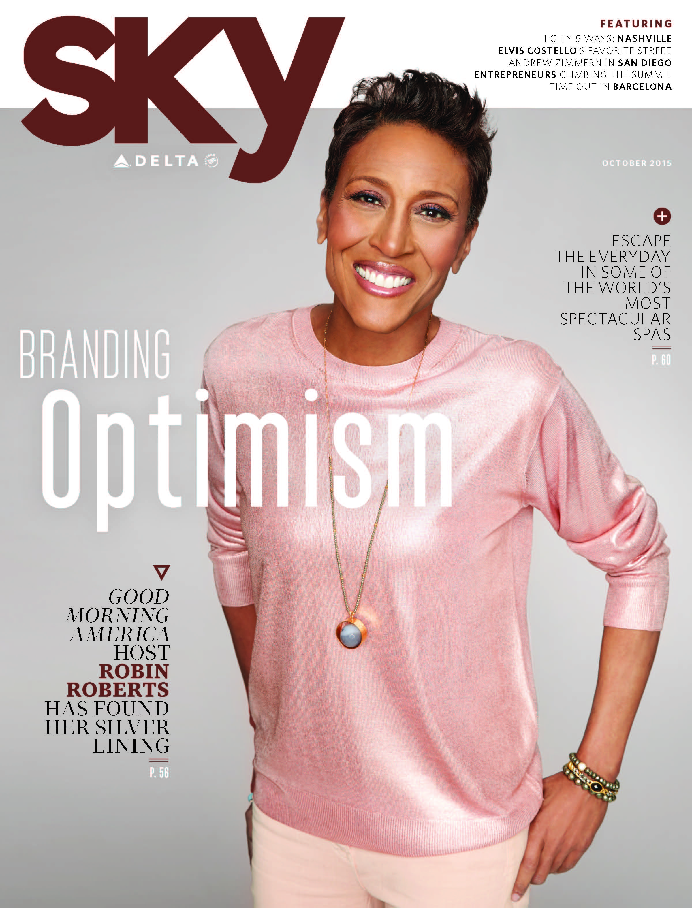 Robin Roberts on the cover of Sky Mag