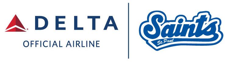 Delta and St. Paul Saints Logo