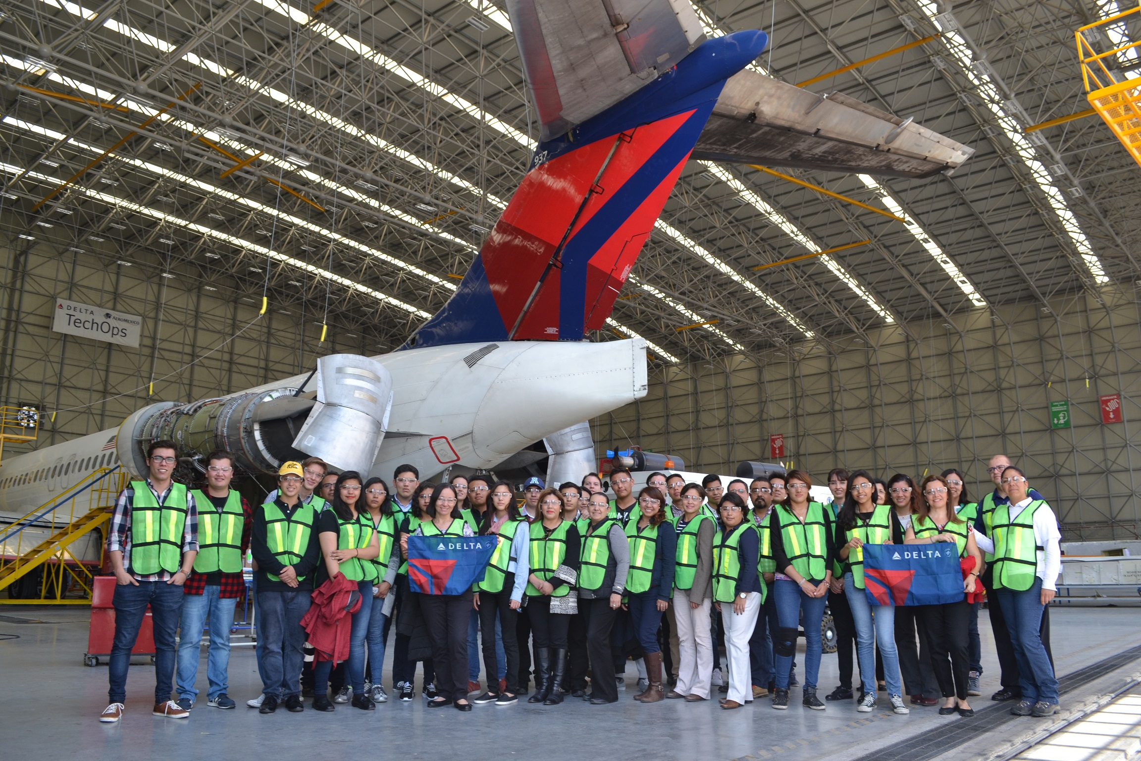 Students group with Delta plane