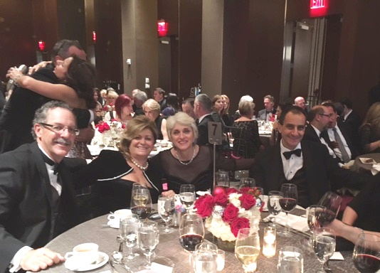 People at table for Travel Award