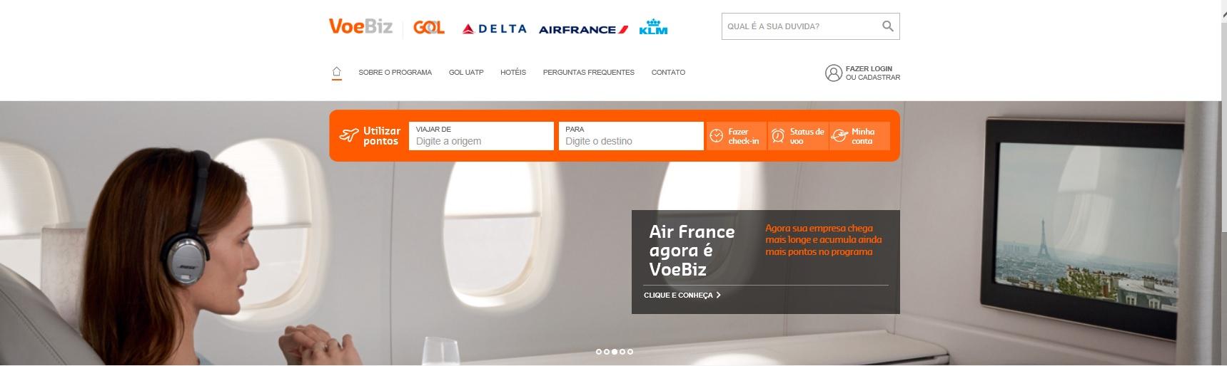 VoeBiz website