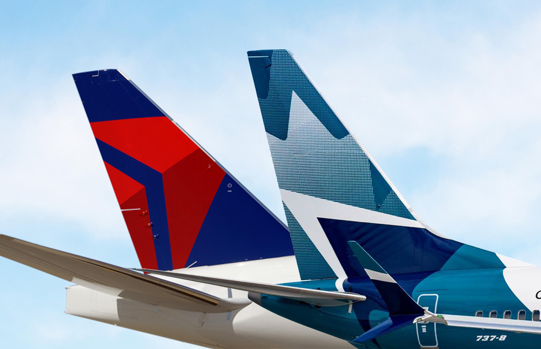デルタ航空とカナダのウエストジ...