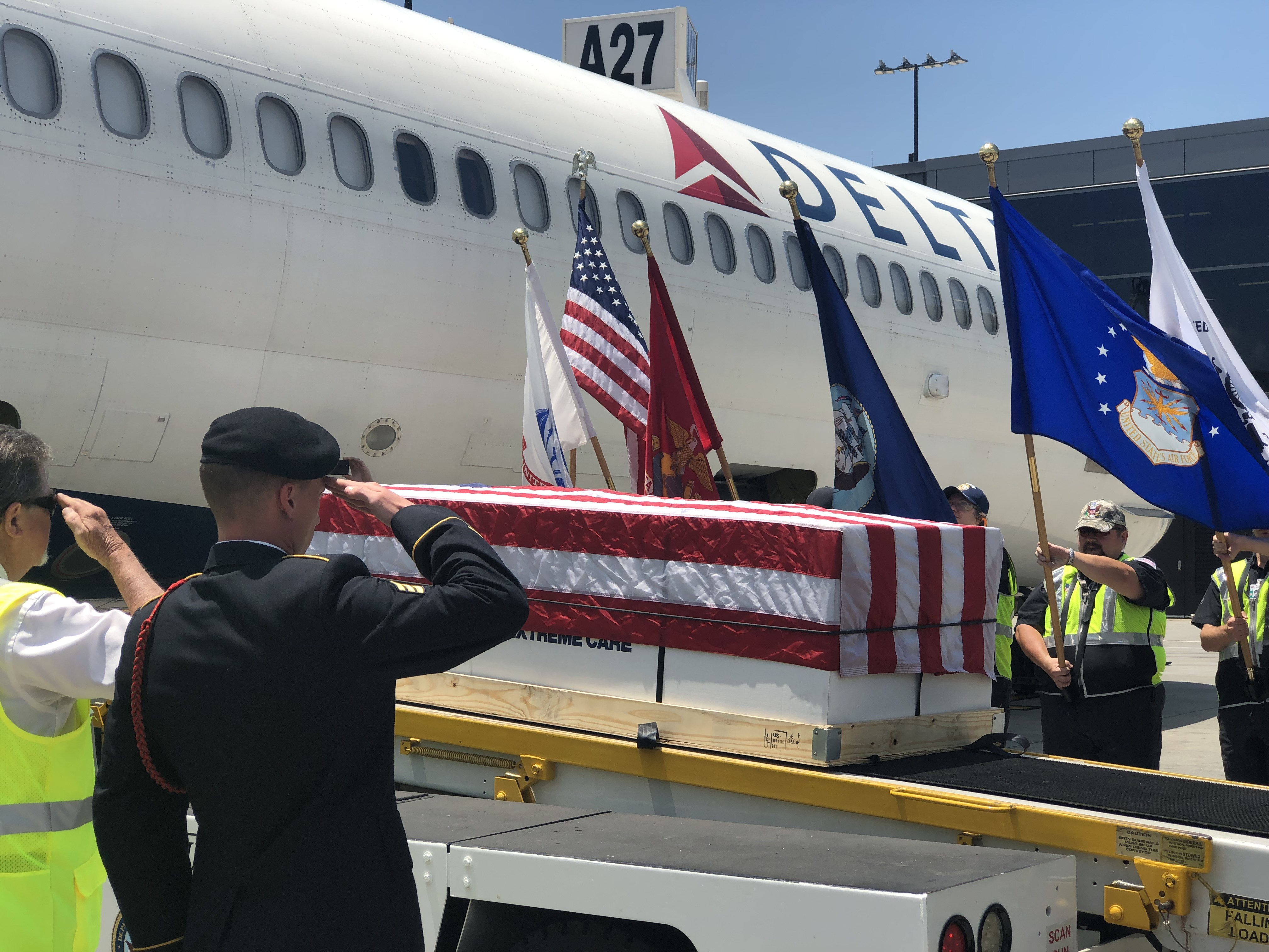 Handle with care: Delta Honor Guard memorializes fallen soldiers