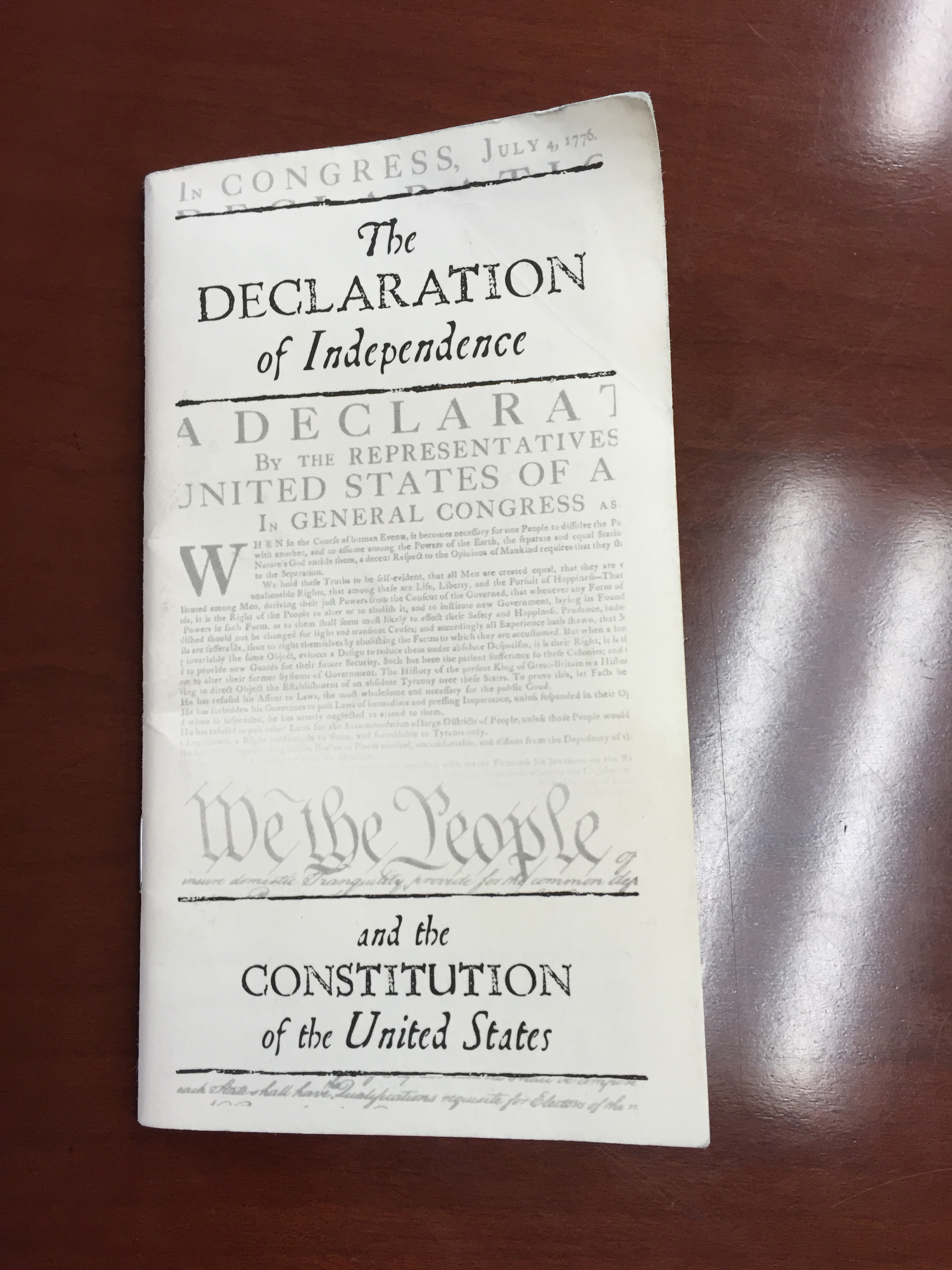U.S. Constitution booklet