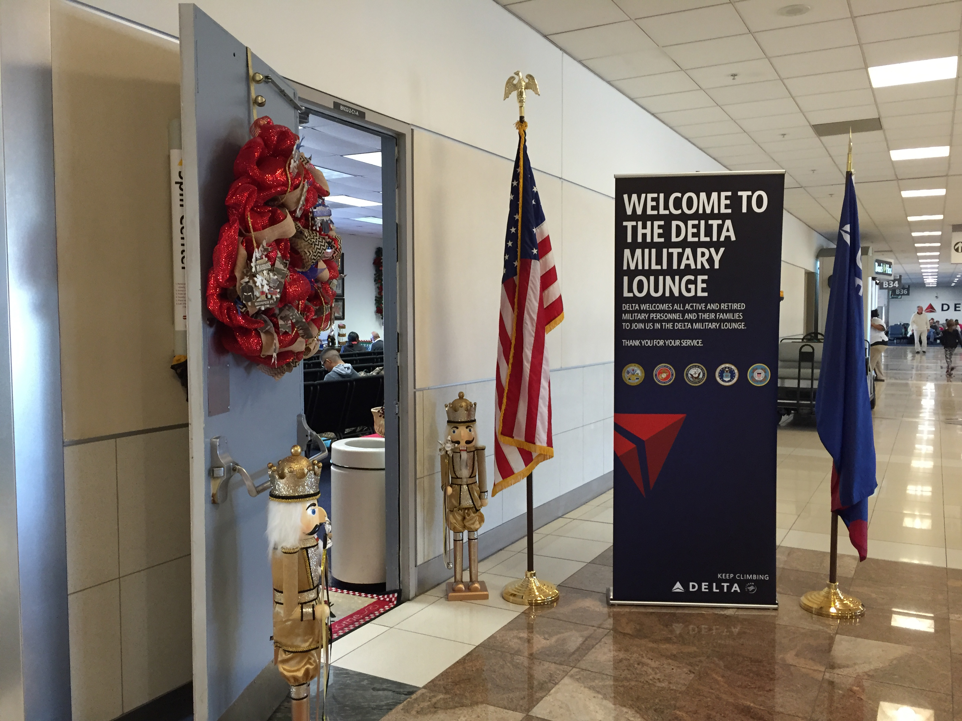 Delta military lounge entrance