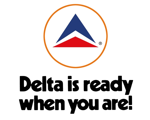 Delta is ready when you are! Graphic