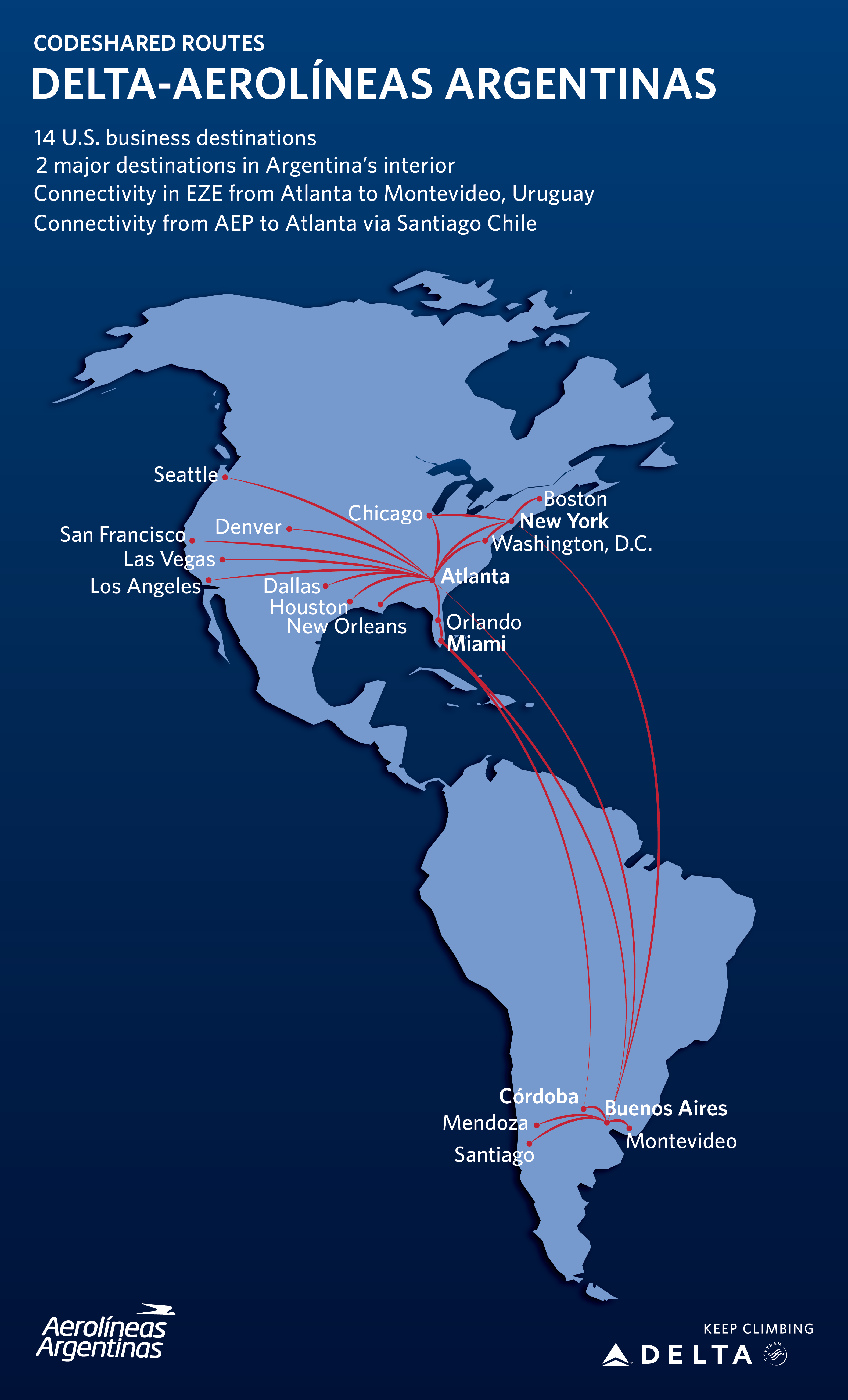 Delta Aerol neas Argentinas partnership launches – Delta Travel Map