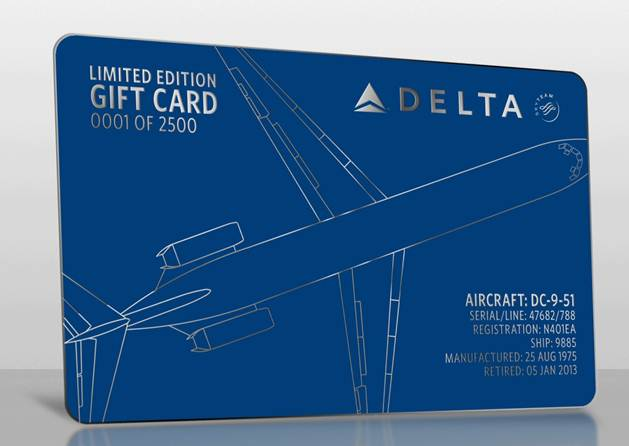 Gift card a piece of Delta history | Delta News Hub