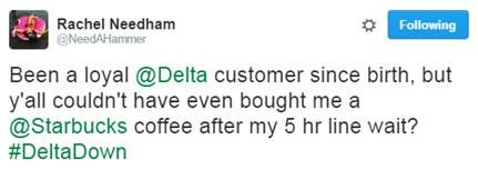Customer tweet