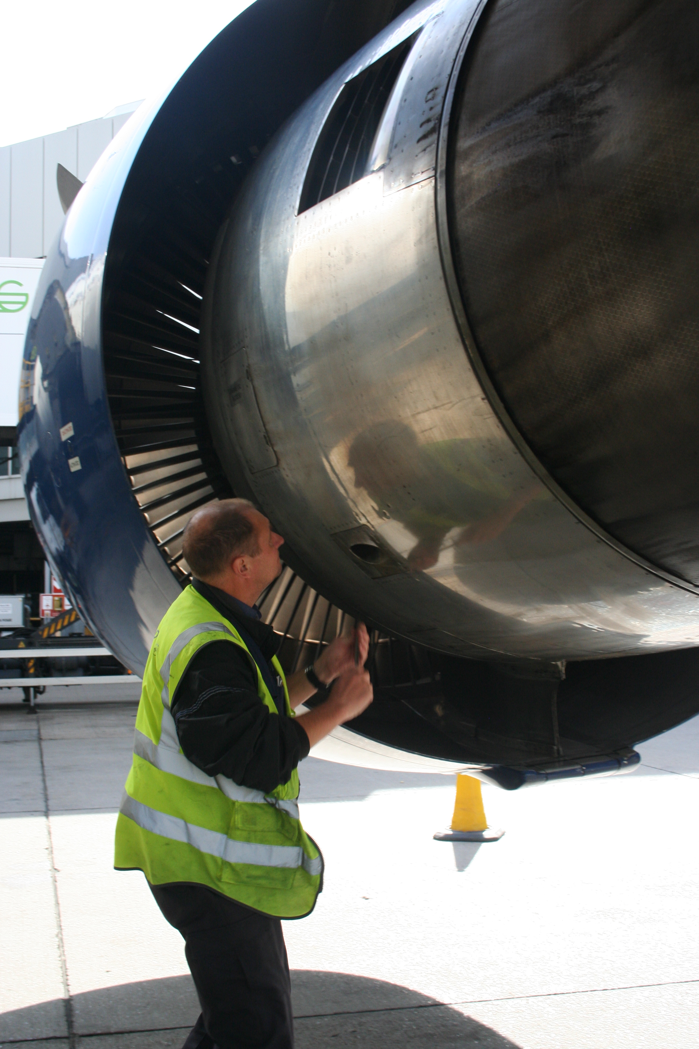 TechOps working on an engine