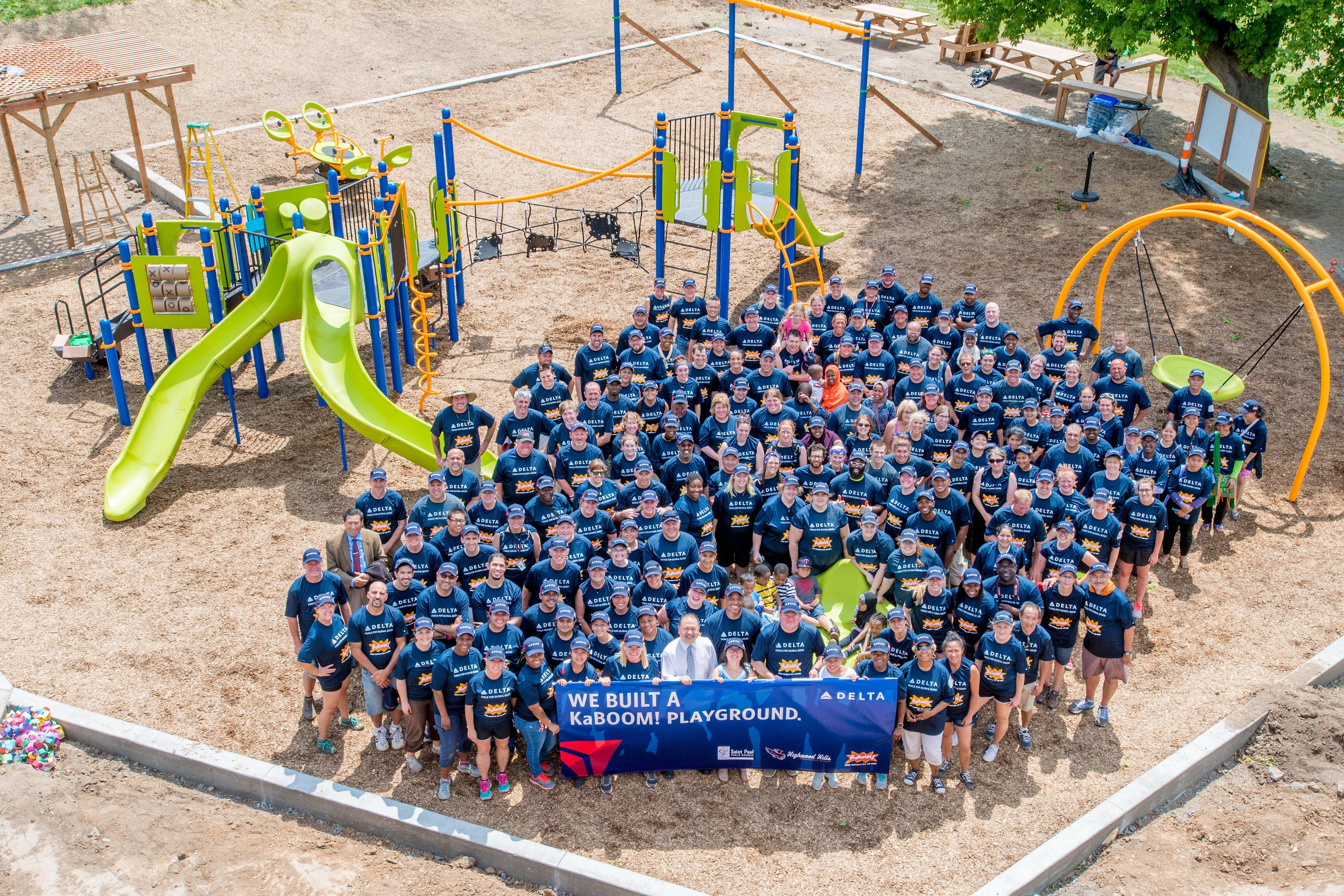 MSP-area kids enjoy new playground, thanks to Delta, KaBOOM!
