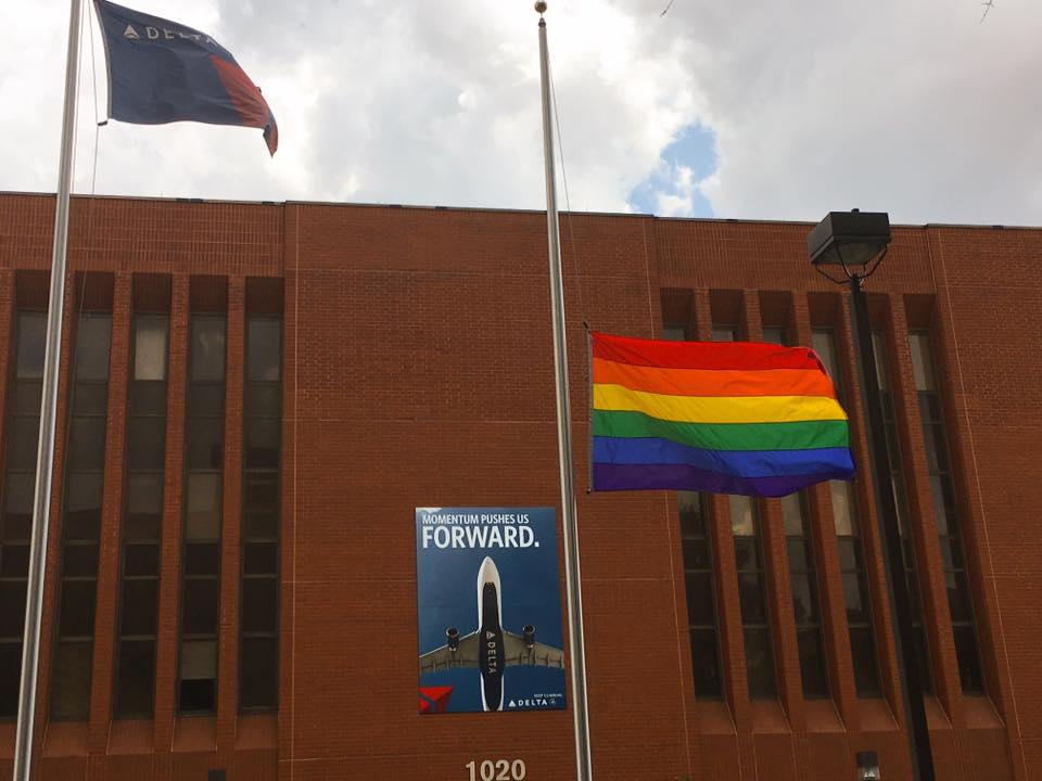 LGBT Flag at General Office