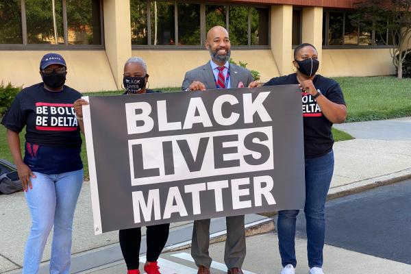 Black Lives Matter flag raised at Delta HQ