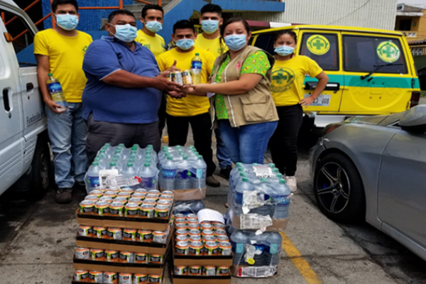 Latin America team food donations