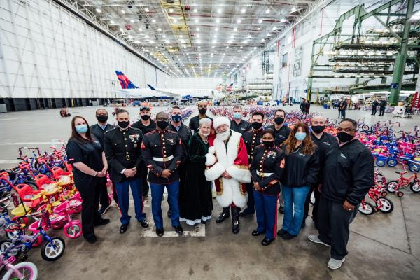 Bikes TechOps 2020 Toys for Tots with Santa