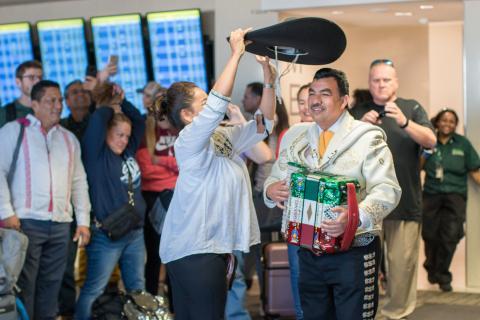 Minneapolis-Mexico City inaugural flight
