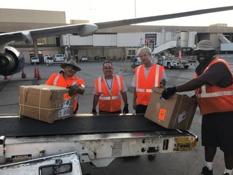 Delta ramp employees in Phoenix