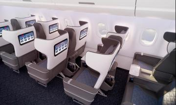 A321 neo seats, Back Cabin view