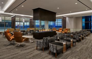 Newest and largest Delta Sky Club showcases sweeping mountain views and resort-like ambiance in SLC